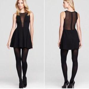 For Love & Lemons lulu black mesh mini dress XS